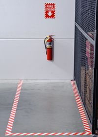 Fire extinguisher floor marking