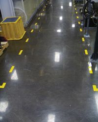 Defined aisles using floor marking tape