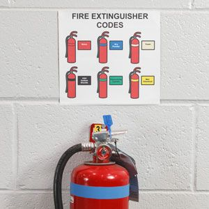 Safety and fire protection equipment visuals