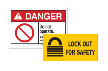 Lockout Tagout Signs