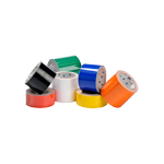 Collection of solid floor tape rolls for social distancing floor marking